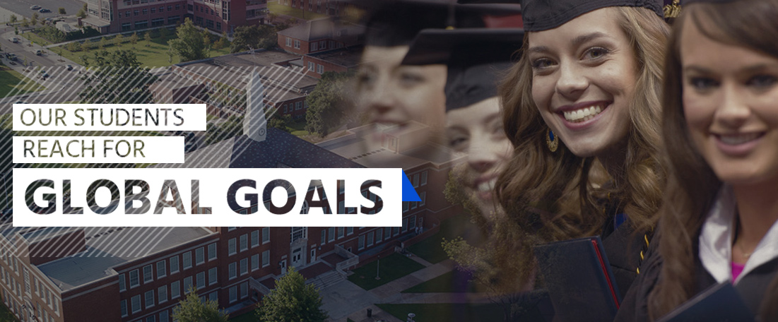 Our students reach for global goals header mobile image